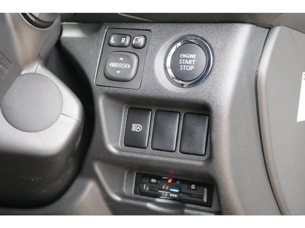 純正プッシュスタート・ビルトインETC装備♪ | トヨタ ハイエースバン 2.7 スーパーGL ダークプライムⅡ ワイド ミドルルーフ ロングボディ 4WD アクティブPKG