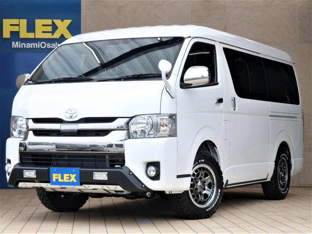 新車DARK PRIMEⅡ・ワイドバン4WD・FLEXアクティブパッケージ♪ | トヨタ ハイエースバン 2.7 スーパーGL ダークプライムⅡ ワイド ミドルルーフ ロングボディ 4WD アクティブPKG