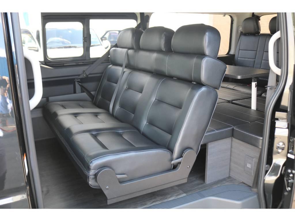 対面対座も可能です♪ | トヨタ ハイエース 2.7 GL ロング ミドルルーフ 4WD TSS付