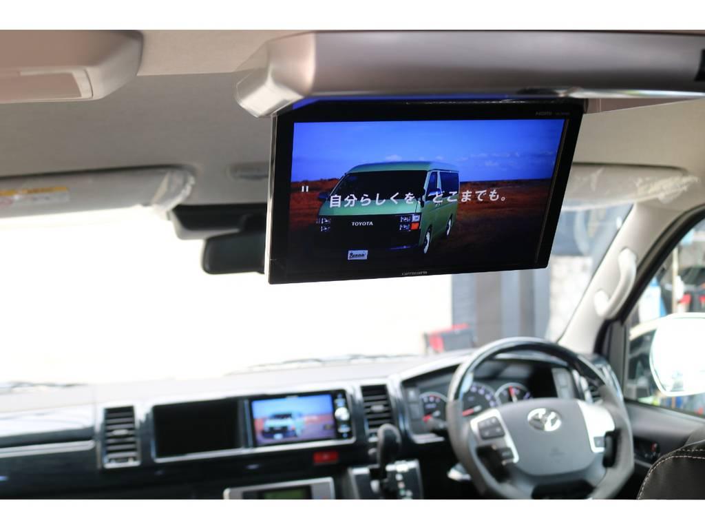 パイオニア製フリップダウンモニター♪ | トヨタ ハイエース 2.7 GL ロング ミドルルーフ 4WD TSS付