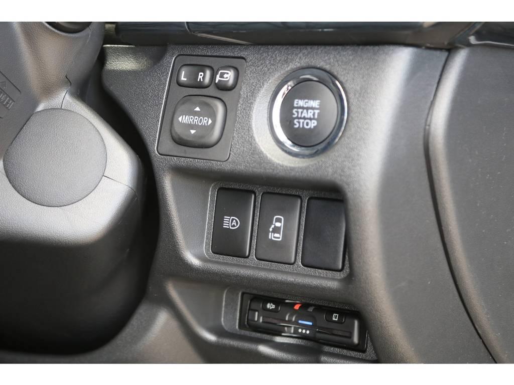 純正プッシュスタート&パワースライドドア・ビルトインETC♪ | トヨタ ハイエース 2.7 GL ロング ミドルルーフ 4WD TSS付