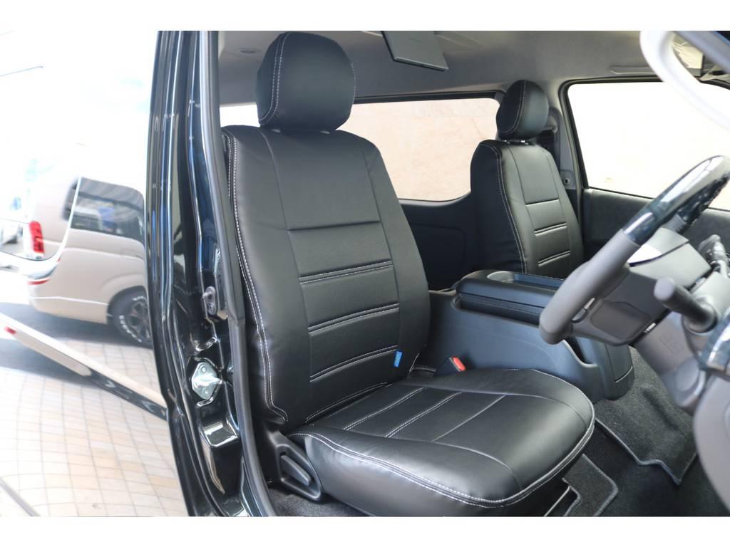 全席シートカバー♪ | トヨタ ハイエース 2.7 GL ロング ミドルルーフ 4WD TSS付