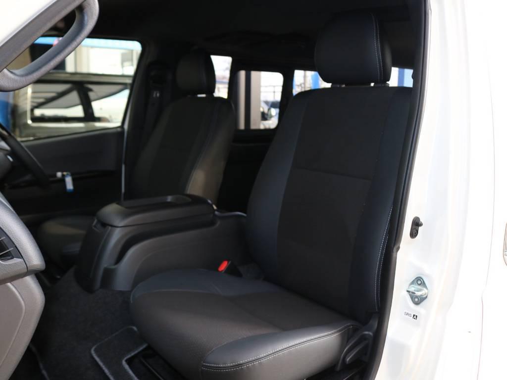 全席ハーフレザーシート♪ | トヨタ ハイエースバン 2.8 スーパーGL ダークプライムⅡ ロングボディ ディーゼルターボ