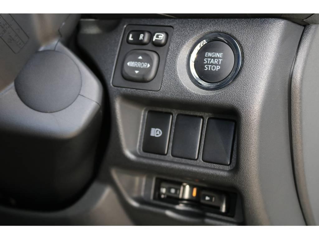 純正プッシュスタート・ビルトインETC♪ | トヨタ ハイエースバン 2.8 スーパーGL ダークプライムⅡ ロングボディ ディーゼルターボ