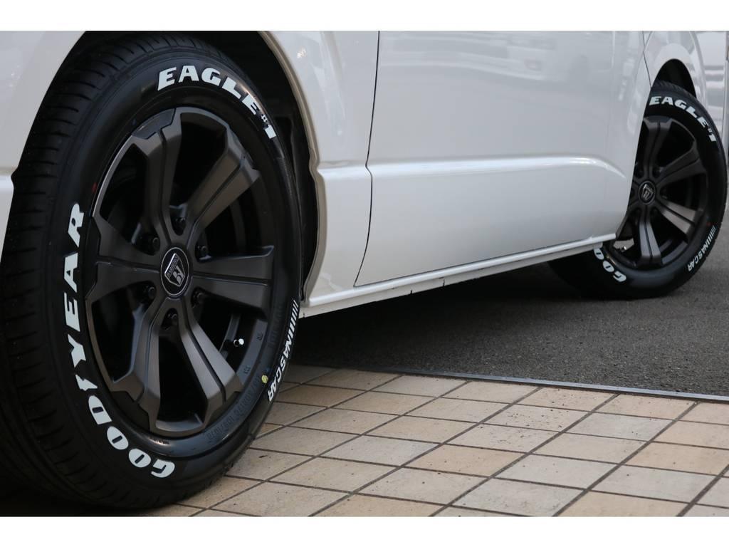 FLEXバルベロ グランデ17インチAW&ナスカータイヤ♪   トヨタ ハイエースバン 2.0 スーパーGL ダークプライムⅡ ロングボディ
