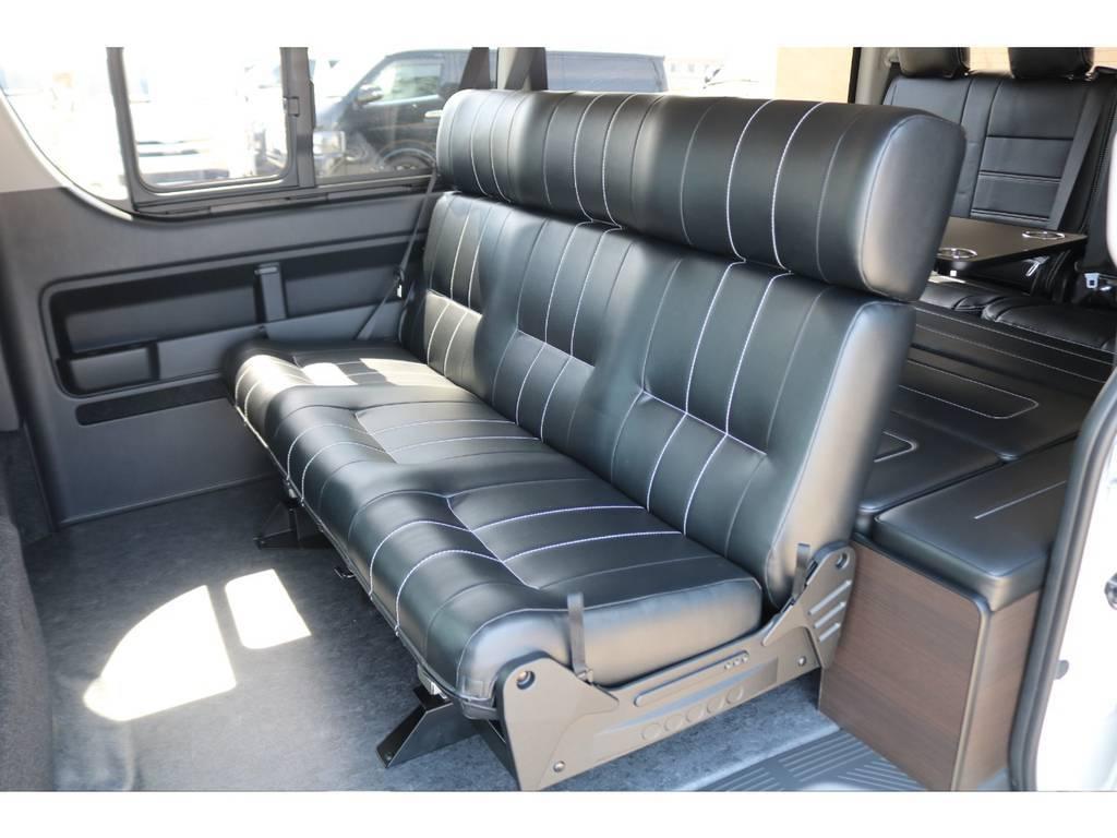 座り心地の良いセカンドシート♪ | トヨタ ハイエース 2.7 GL ロング ミドルルーフ TSS付アレンジAS