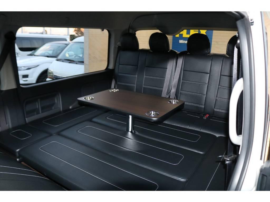 ベッドキット&テーブル装備♪ | トヨタ ハイエース 2.7 GL ロング ミドルルーフ TSS付アレンジAS