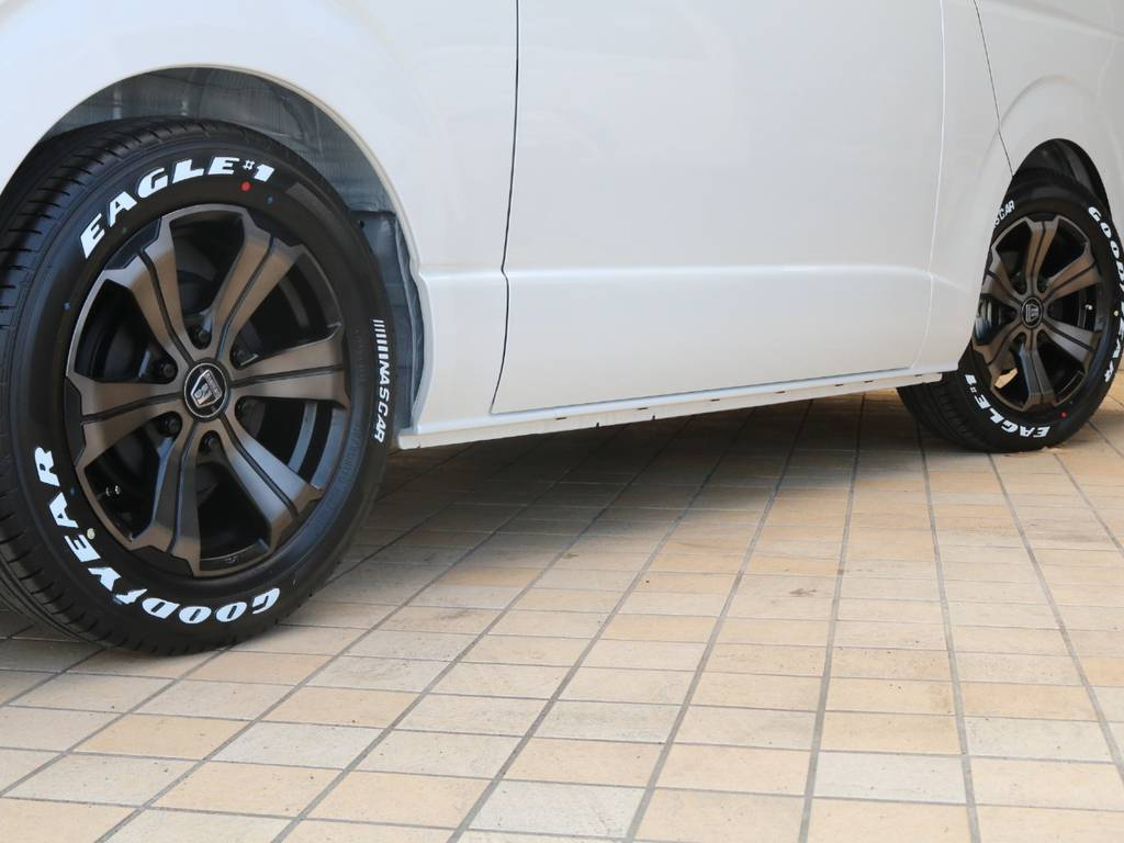 FLEXバルベロ グランデ17インチAW&ナスカータイヤ♪ | トヨタ ハイエースバン 2.0 スーパーGL ダークプライムⅡ ロングボディ PS無