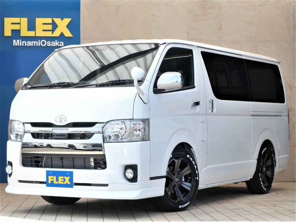 FLEX CUSTOM・新車DARK PRIMEⅡ・ガソリン2WD♪ | トヨタ ハイエースバン 2.0 スーパーGL ダークプライムⅡ ロングボディ PS無