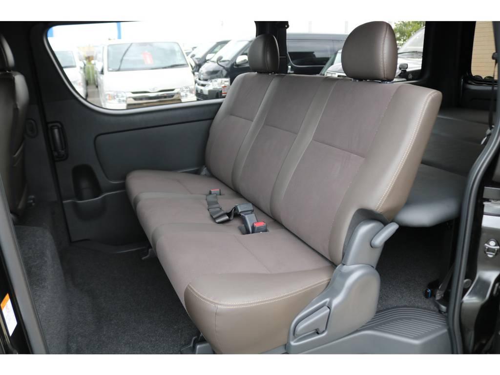 全席ハーフレザーシート♪ | トヨタ ハイエースバン 2.0 スーパーGL 50TH アニバーサリー リミテッド ロングボディ FLEX CUSTOM