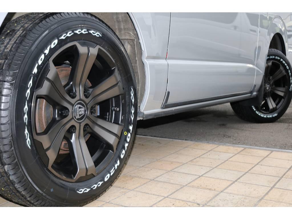 新品バルベロ グランデ17インチAW&新品TOYOタイヤ♪ | トヨタ ハイエースバン 3.0 マルチロールトランスポーター タイプⅡ ロング ディーゼルターボ 4WD