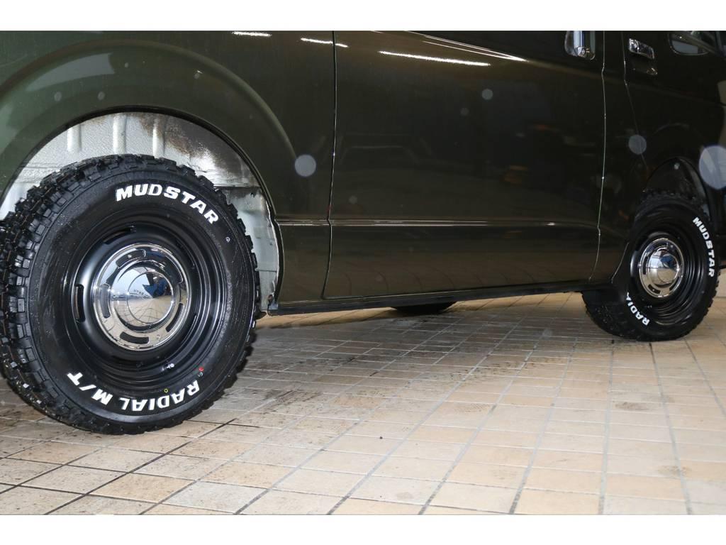 新品クロスカントリー16インチAW&新品マッドスタータイヤ
