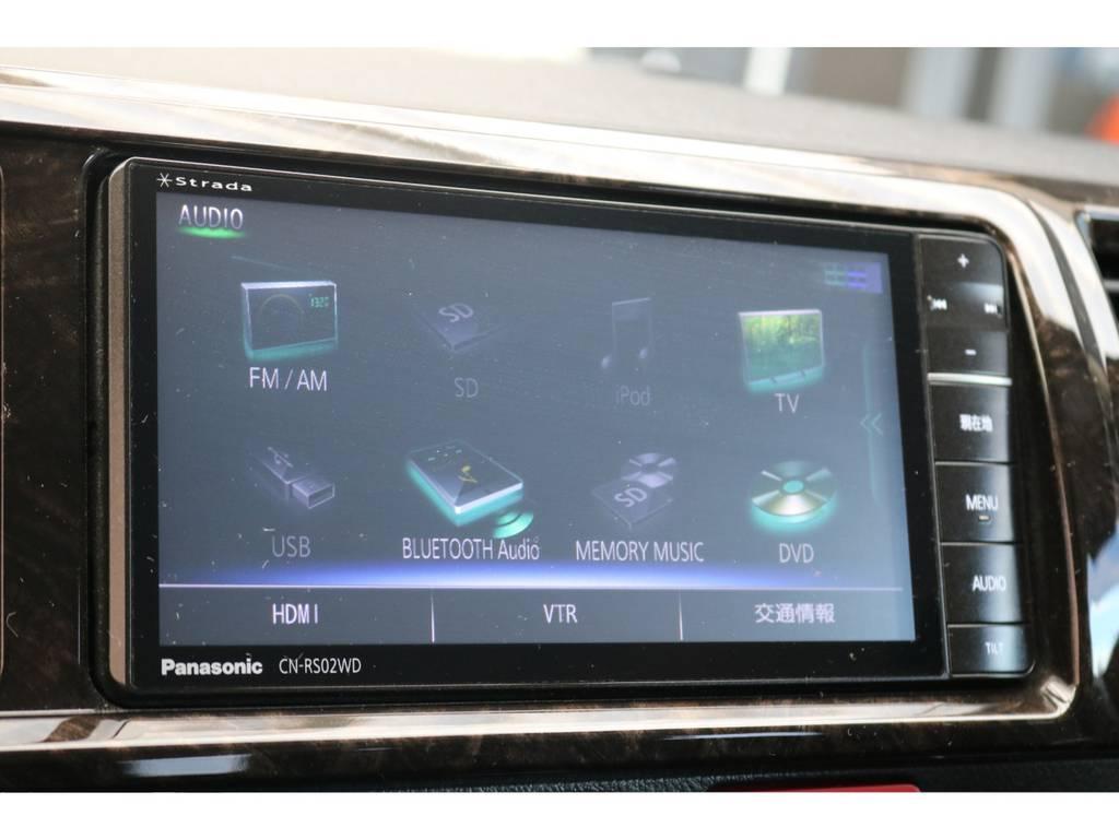 Panasonic製SDナビゲーション♪ | トヨタ レジアスエース 2.7 スーパーGL ダークプライム ワイド ミドルルーフ ロングボディ 4WD