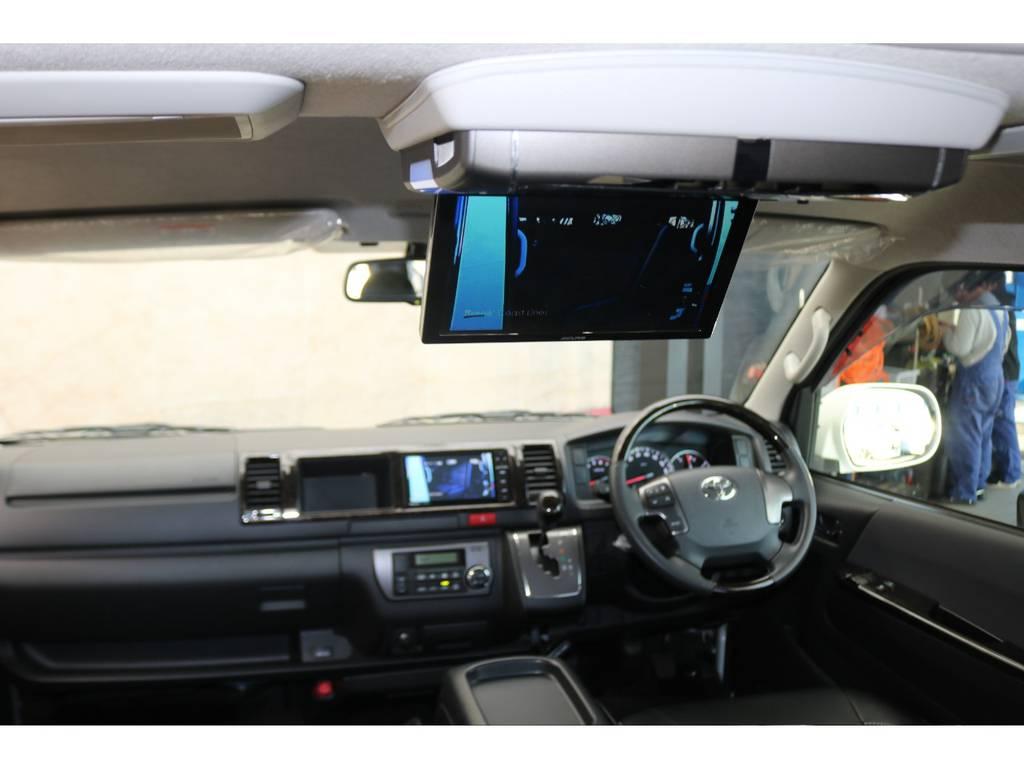 アルパイン製フリップダウンモニター♪ | トヨタ レジアスエース 2.7 スーパーGL ダークプライム ワイド ミドルルーフ ロングボディ 4WD