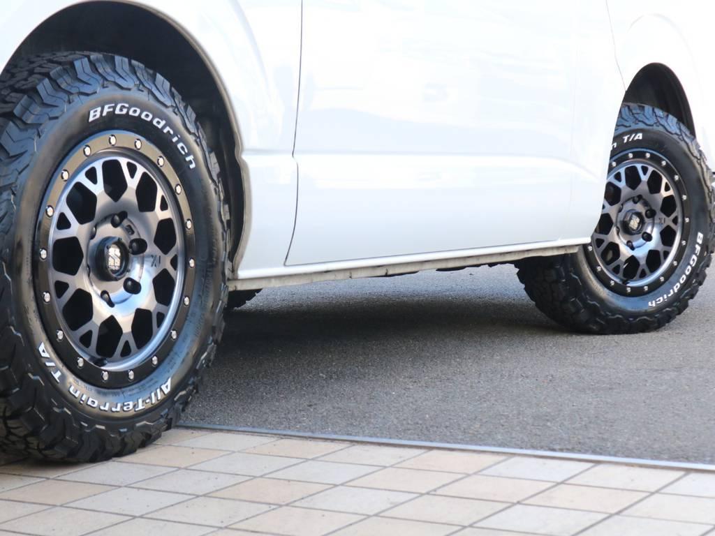 新品エクストリームストリームJ16インチAW・新品BFグッドリッチタイヤ♪ | トヨタ レジアスエース 2.7 スーパーGL ダークプライム ワイド ミドルルーフ ロングボディ 4WD