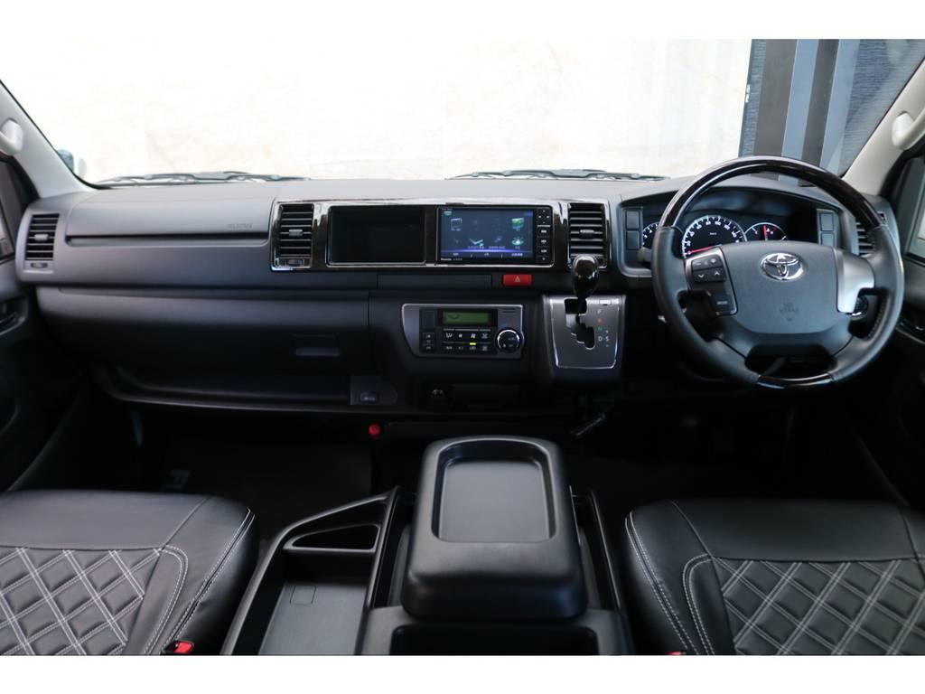 ダークプライム専用コックピット♪ | トヨタ レジアスエース 2.7 スーパーGL ダークプライム ワイド ミドルルーフ ロングボディ 4WD