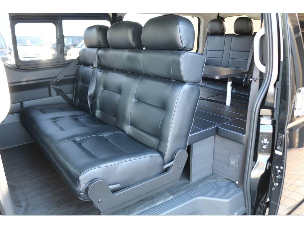 3人掛けセカンドシート♪ | トヨタ ハイエース 2.7 GL ロング ミドルルーフ TSS付