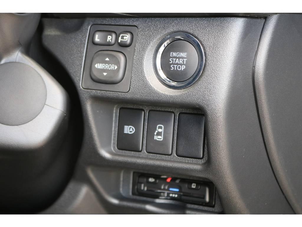 純正プッシュスタート&パワースライドドア・ビルトインETC♪ | トヨタ ハイエース 2.7 GL ロング ミドルルーフ TSS付