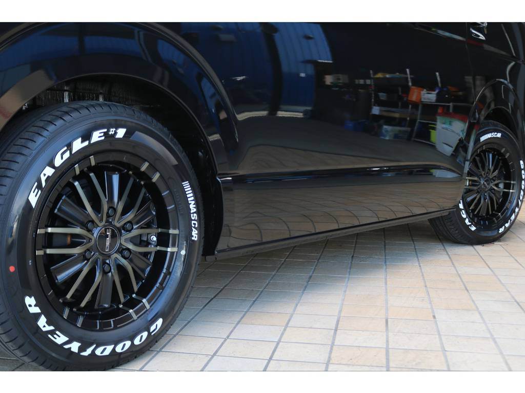 FLEXオリジナルホイール16インチAW&ナスカータイヤ♪ | トヨタ ハイエース 2.7 GL ロング ミドルルーフ TSS付