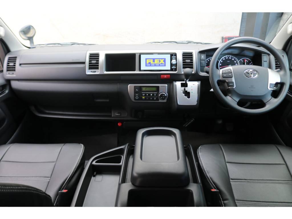 新車コックピット♪ | トヨタ ハイエース 2.7 GL ロング ミドルルーフ TSS付