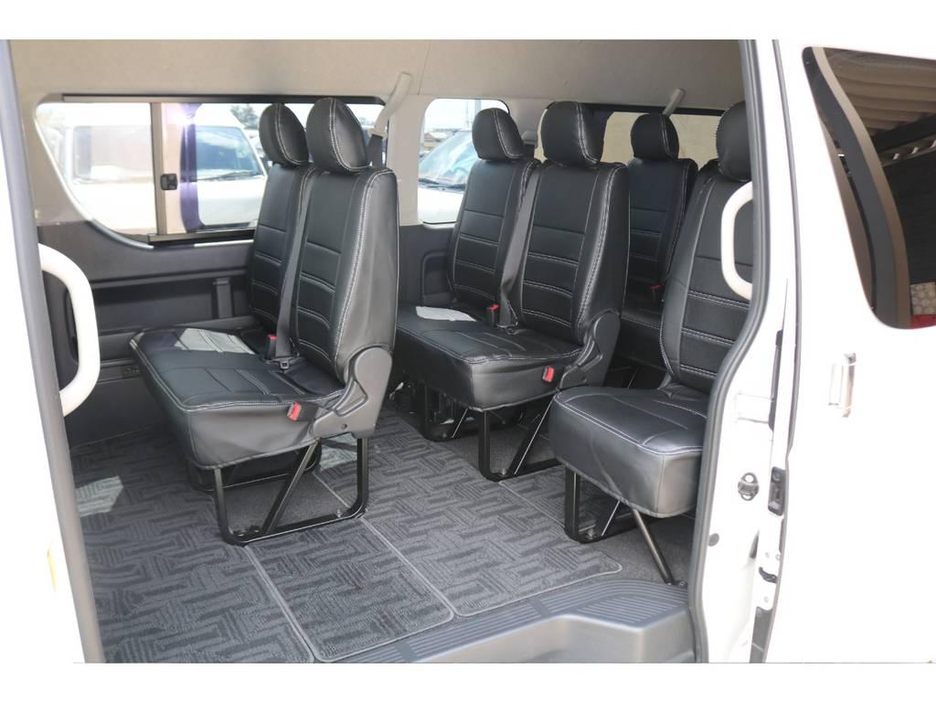 新品FLEXシートカバー装備♪ | トヨタ ハイエース 2.7 グランドキャビン 4WD