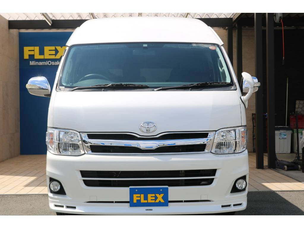 純正HIDヘッドライト・オプションフォグランプ装備♪ | トヨタ ハイエース 2.7 グランドキャビン 4WD