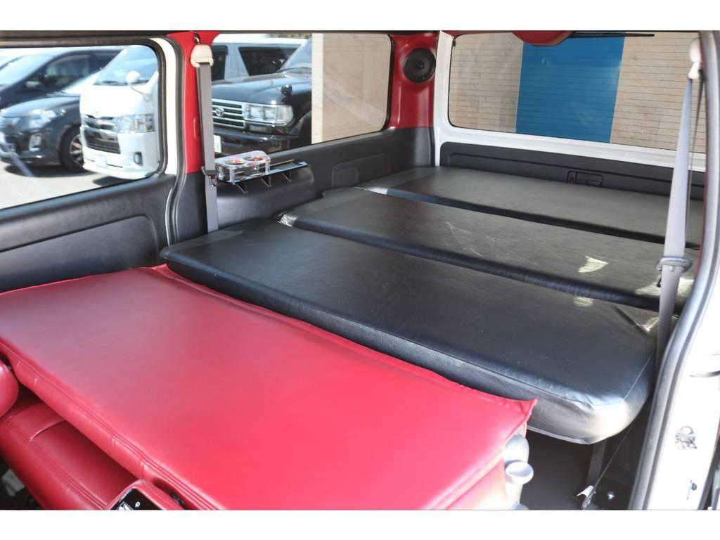シンケ製リクライニングベッドキット♪ | トヨタ ハイエースバン 2.7 スーパーGL ワイド ロング ミドルルーフ 4WD GIBSONフルエアロ