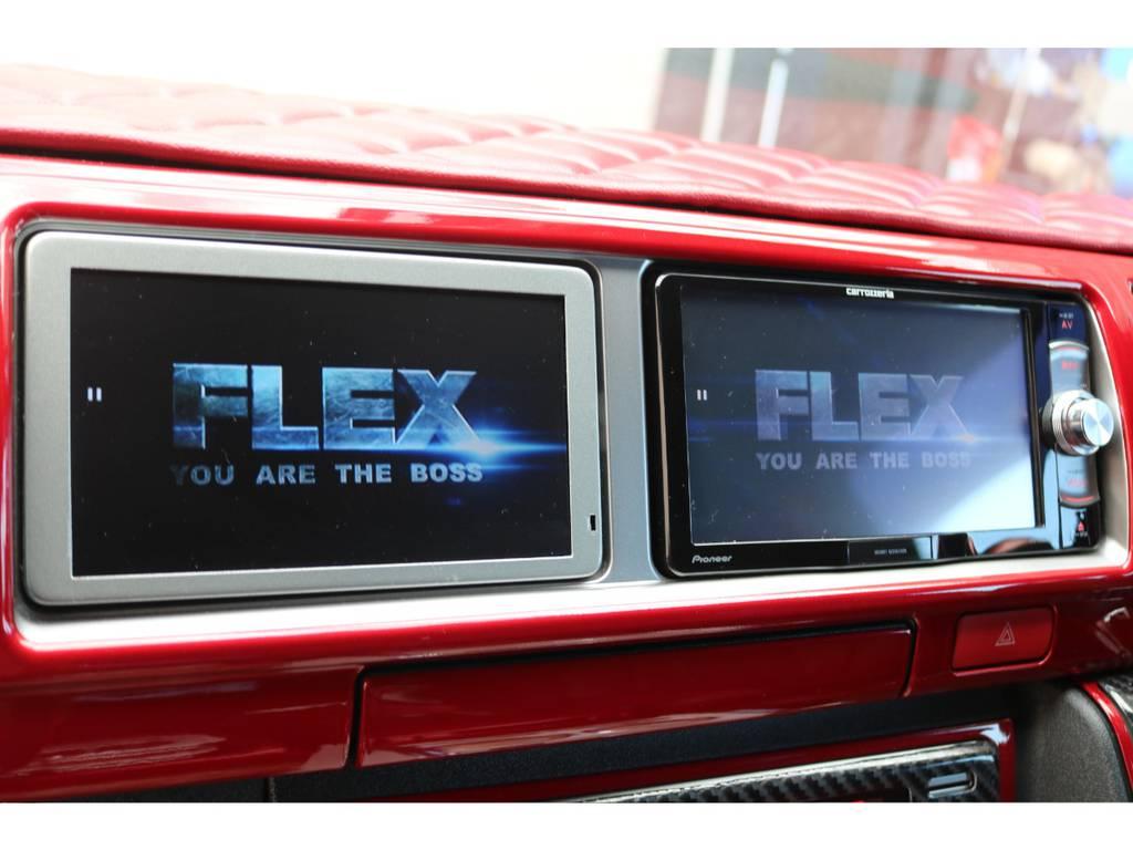 パイオニア製SDナビ・サブモニター装備♪ | トヨタ ハイエースバン 2.7 スーパーGL ワイド ロング ミドルルーフ 4WD GIBSONフルエアロ