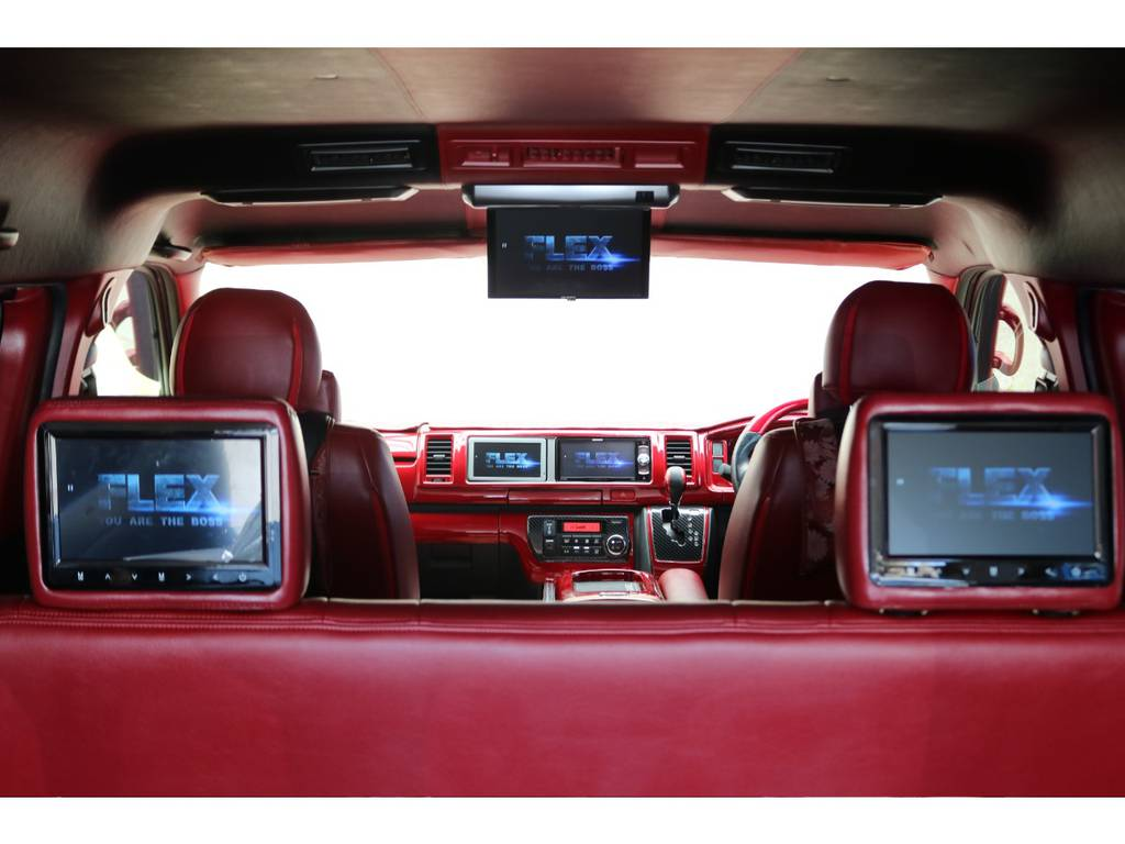 5モニター装備♪ | トヨタ ハイエースバン 2.7 スーパーGL ワイド ロング ミドルルーフ 4WD GIBSONフルエアロ