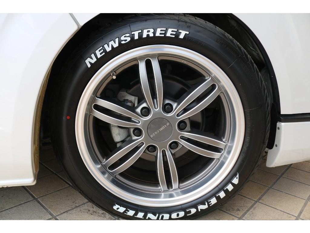 新品バッドラッカー18インチAW・新品オーレンカウンタータイヤ