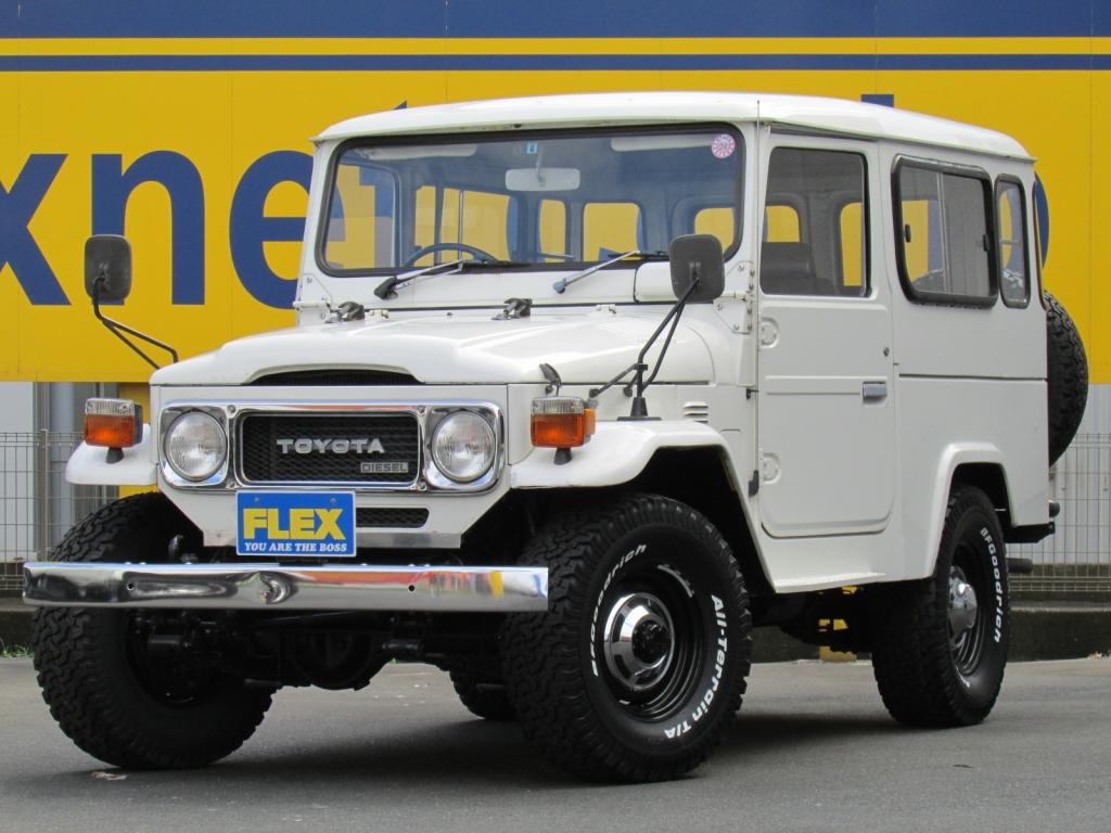 希少!! ランクルBJ44 後期型 純正白 4速MT ロングボディー クーラー 新品輸出用ホイール&新品BF/AT ETC 極上車