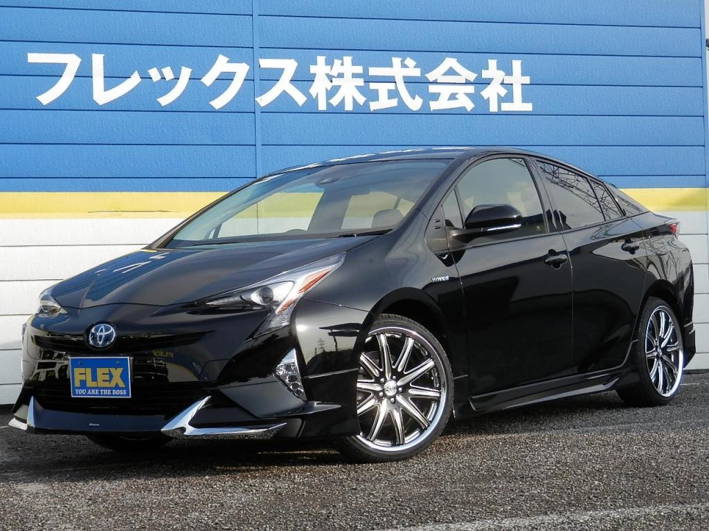 新車 プリウスS モデリスタフルエアロ・WORK19AW・BIG-X9インチナビ・トヨタセーフティセンス・LEDフォグ