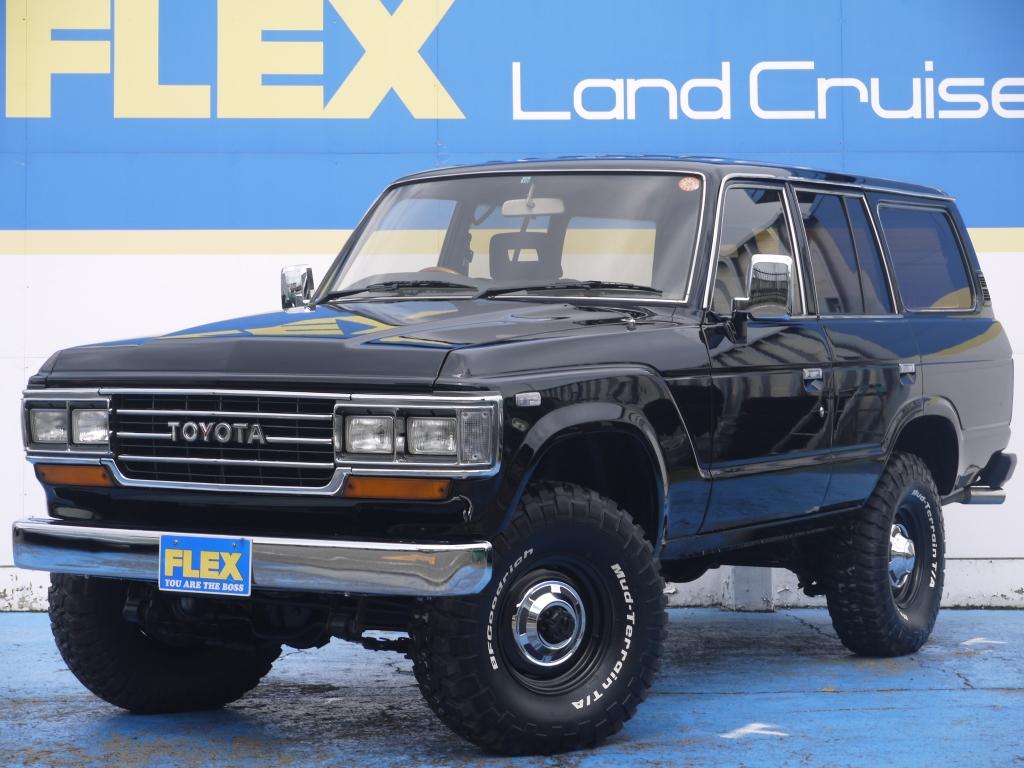 至極の1台!!ランクル60 VX 4000D-t AT ブラックNEWペイント 2インチUP 新品輸出用15インチホイール 新品BFG33MTタイヤ 新品ブラックシートカバー 新品グリル