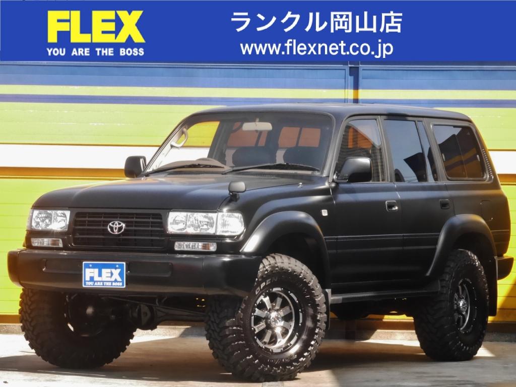ランクル80!VX-LTD!後期モデル!NEWペイントマットブラック!4200DT!MKWホイール&TOYOマットタイヤ! 3インチリフトアップ!低走行車!