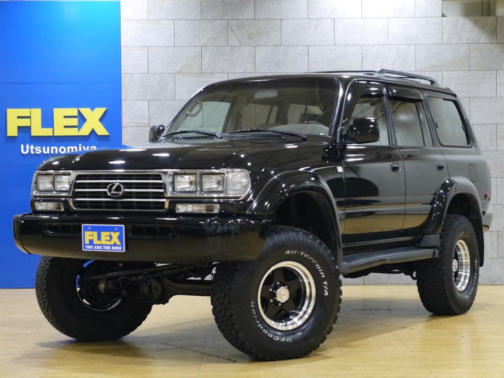 1997yモデル レクサス LX450 左ハンドル 超稀少車!! 角目4灯、リフトUP、人気のブラック単色、ベージュ革♪♪
